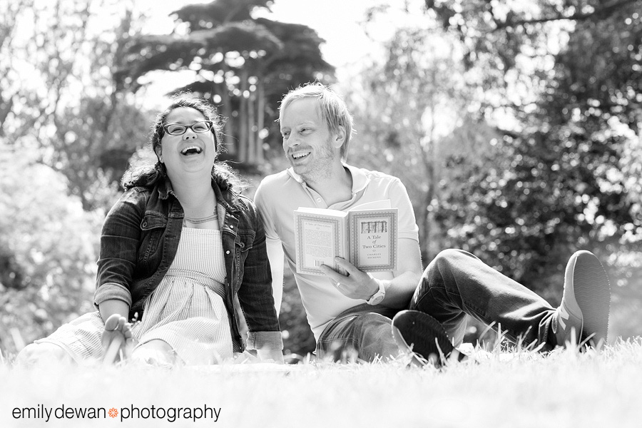 san francisco couple portraits panhandle park reading