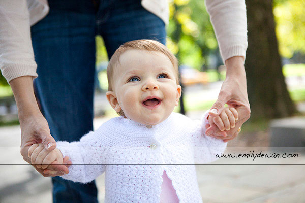 Central Park New York baby portrait session