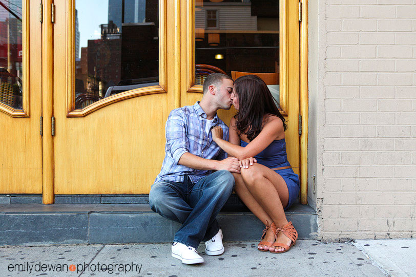 Times Square NYC engagement portraits
