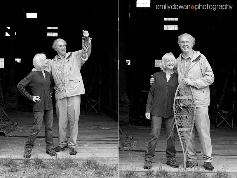 maine portraits couple barn farm