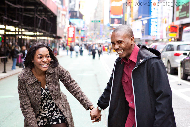 Times Square NYC engagement photos