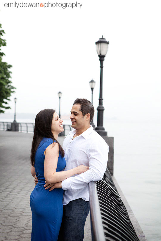 battery park new york nyc engagement portrait
