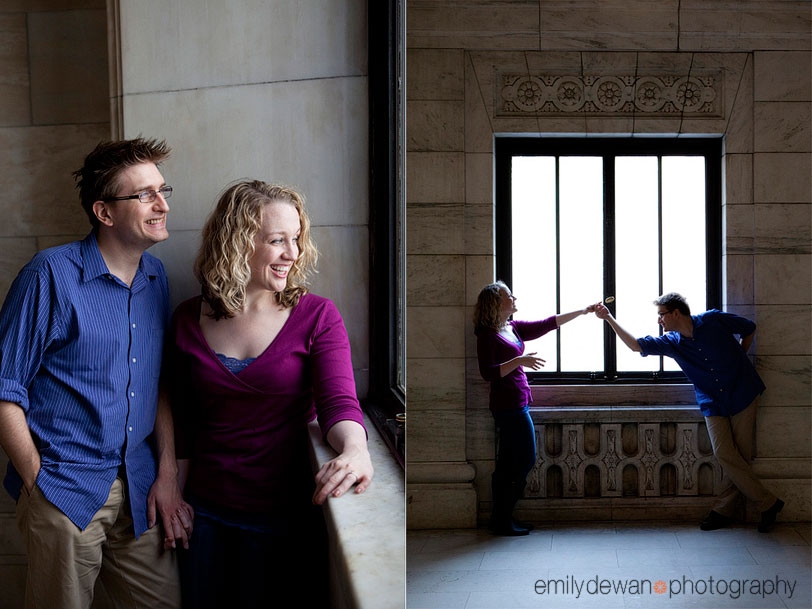nyc engagement portrait new york public library bryant park