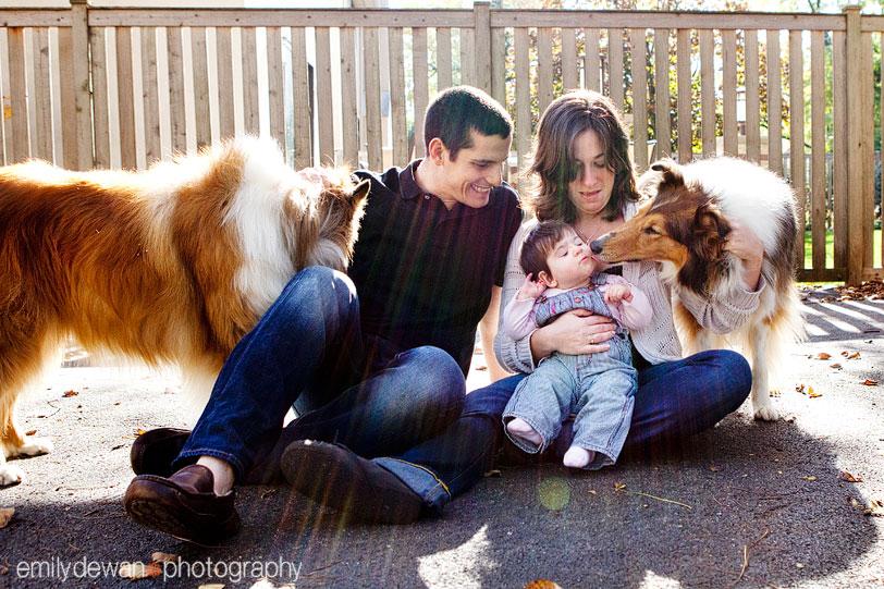 Highland Park Family Baby Dog Portrait