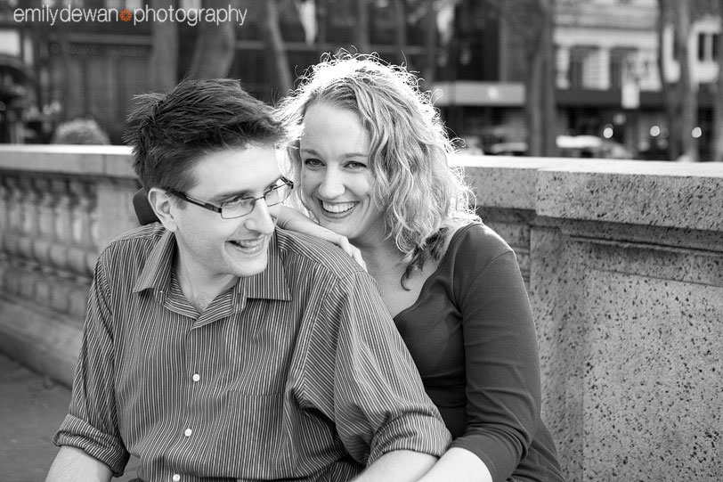 nyc engagement portrait bryant park