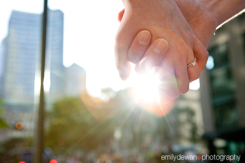 nyc engagement portrait ring hands