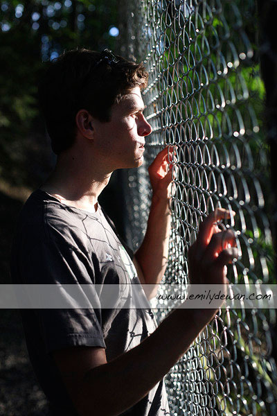 cornell ithaca ny fence portrait