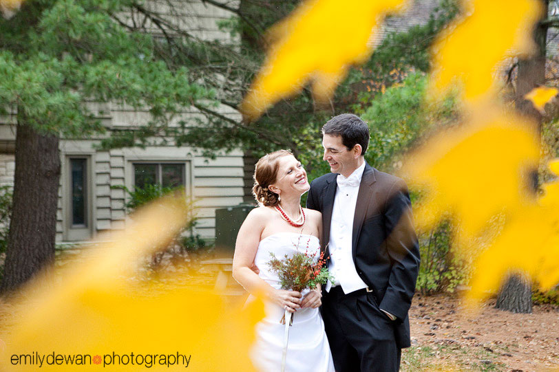 starved rock state park fall wedding