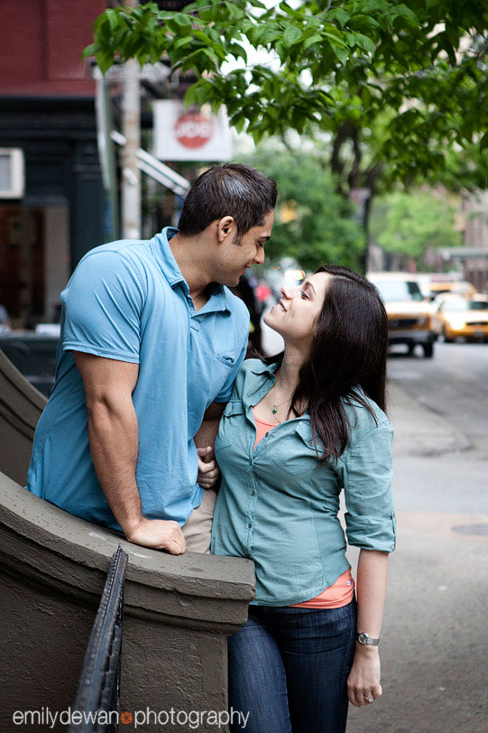 west village new york nyc engagement portrait