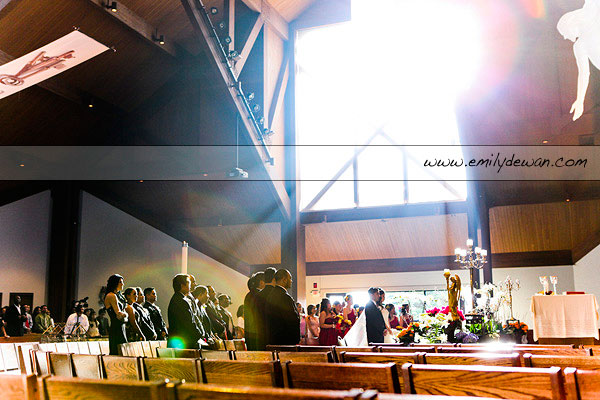 wedding ceremony holy family parish inverness illinois