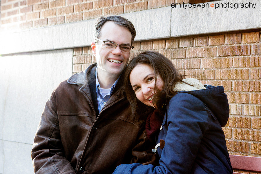 new york uws engagement portrait